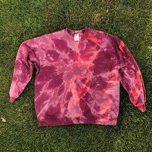 Custom bleached crewneck sweatshirt